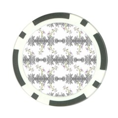 Floral Collage Pattern Poker Chip Card Guard (10 Pack)