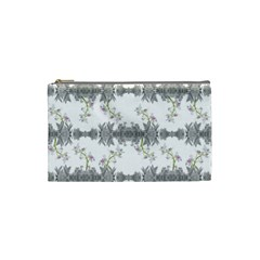 Floral Collage Pattern Cosmetic Bag (small)