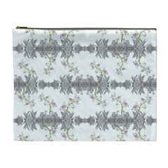 Floral Collage Pattern Cosmetic Bag (xl)
