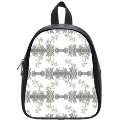 Floral Collage Pattern School Bag (small)