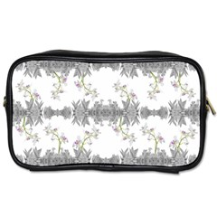 Floral Collage Pattern Toiletries Bags 2 Side