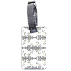 Floral Collage Pattern Luggage Tags (one Side)