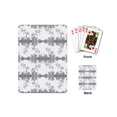 Floral Collage Pattern Playing Cards (mini)