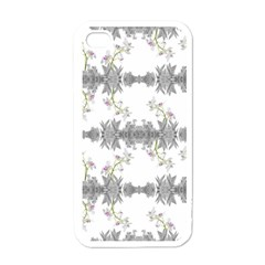Floral Collage Pattern Apple Iphone 4 Case (white)