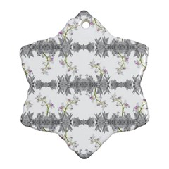 Floral Collage Pattern Snowflake Ornament (two Sides)