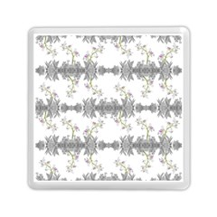 Floral Collage Pattern Memory Card Reader (square)