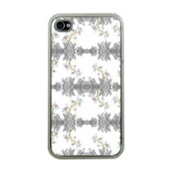 Floral Collage Pattern Apple Iphone 4 Case (clear)