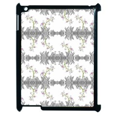 Floral Collage Pattern Apple Ipad 2 Case (black)