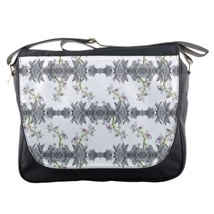 Floral Collage Pattern Messenger Bags