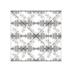 Floral Collage Pattern Acrylic Tangram Puzzle (4  X 4 )