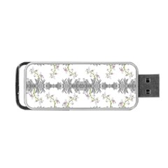 Floral Collage Pattern Portable Usb Flash (two Sides)