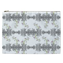 Floral Collage Pattern Cosmetic Bag (xxl)