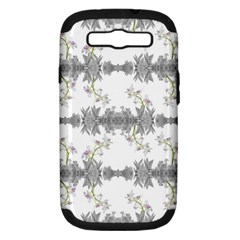 Floral Collage Pattern Samsung Galaxy S Iii Hardshell Case (pc+silicone)
