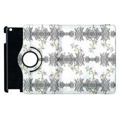 Floral Collage Pattern Apple Ipad 3/4 Flip 360 Case