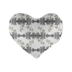 Floral Collage Pattern Standard 16  Premium Heart Shape Cushions