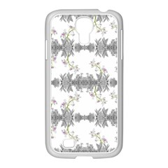Floral Collage Pattern Samsung Galaxy S4 I9500/ I9505 Case (white)