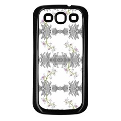 Floral Collage Pattern Samsung Galaxy S3 Back Case (black)