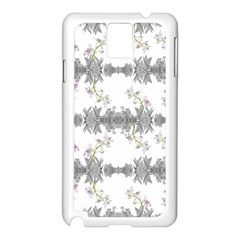 Floral Collage Pattern Samsung Galaxy Note 3 N9005 Case (white)