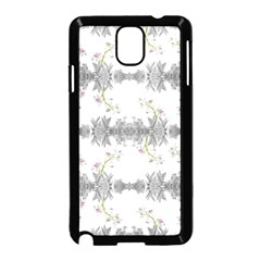 Floral Collage Pattern Samsung Galaxy Note 3 Neo Hardshell Case (black)