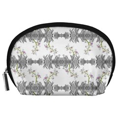 Floral Collage Pattern Accessory Pouches (large)