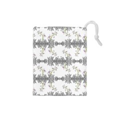 Floral Collage Pattern Drawstring Pouches (small)