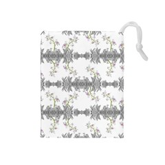 Floral Collage Pattern Drawstring Pouches (medium)