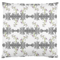 Floral Collage Pattern Large Flano Cushion Case (two Sides)