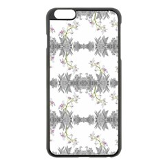 Floral Collage Pattern Apple Iphone 6 Plus/6s Plus Black Enamel Case