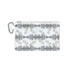 Floral Collage Pattern Canvas Cosmetic Bag (s)