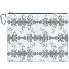 Floral Collage Pattern Canvas Cosmetic Bag (xxxl)