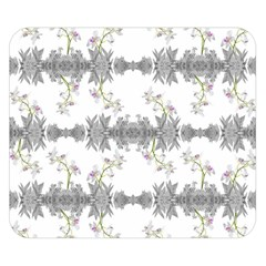 Floral Collage Pattern Double Sided Flano Blanket (small)