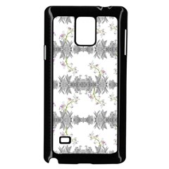 Floral Collage Pattern Samsung Galaxy Note 4 Case (black)