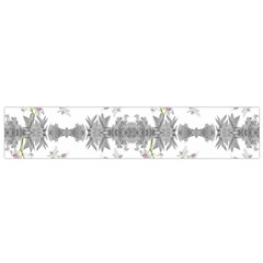 Floral Collage Pattern Flano Scarf (small)