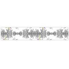 Floral Collage Pattern Flano Scarf (large)