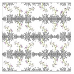 Floral Collage Pattern Large Satin Scarf (square)