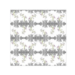 Floral Collage Pattern Small Satin Scarf (square)