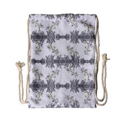 Floral Collage Pattern Drawstring Bag (small)