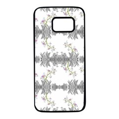 Floral Collage Pattern Samsung Galaxy S7 Black Seamless Case