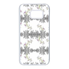 Floral Collage Pattern Samsung Galaxy S7 White Seamless Case