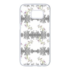 Floral Collage Pattern Samsung Galaxy S7 Edge White Seamless Case