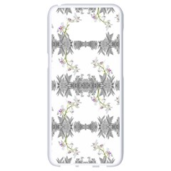 Floral Collage Pattern Samsung Galaxy S8 White Seamless Case