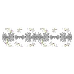 Floral Collage Pattern Satin Scarf (oblong)