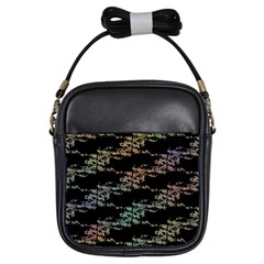 Birds With Nest Rainbow Girls Sling Bags