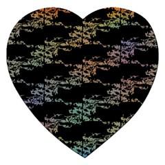 Birds With Nest Rainbow Jigsaw Puzzle (heart)