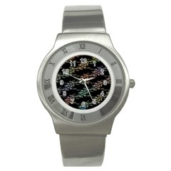 Birds With Nest Rainbow Stainless Steel Watch