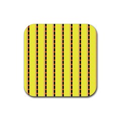 Pattern Background Wallpaper Banner Rubber Square Coaster (4 Pack)