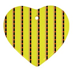 Pattern Background Wallpaper Banner Heart Ornament (two Sides)