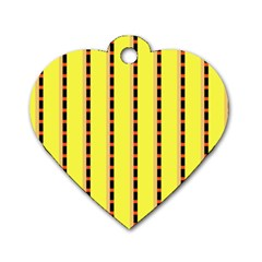 Pattern Background Wallpaper Banner Dog Tag Heart (two Sides)