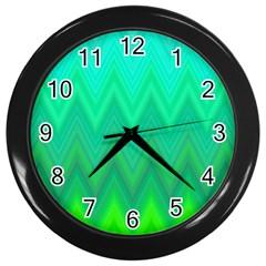 Zig Zag Chevron Classic Pattern Wall Clocks (black)