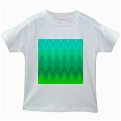 Zig Zag Chevron Classic Pattern Kids White T Shirts